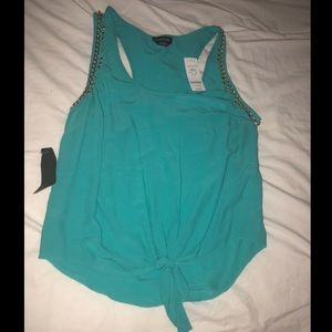 BEBE NWT $79 size Small turquoise gold chain tank